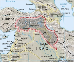 Kurdish areas are all affected by middle eastern strife.