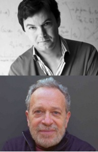 Piketty (top) and Reich have both taken on the subject of Inequality